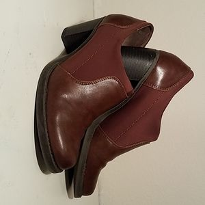 Brown Heeled Booties by Naturalizer size 8